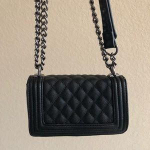Forever 21 Classic Black Crossbody and should Bag